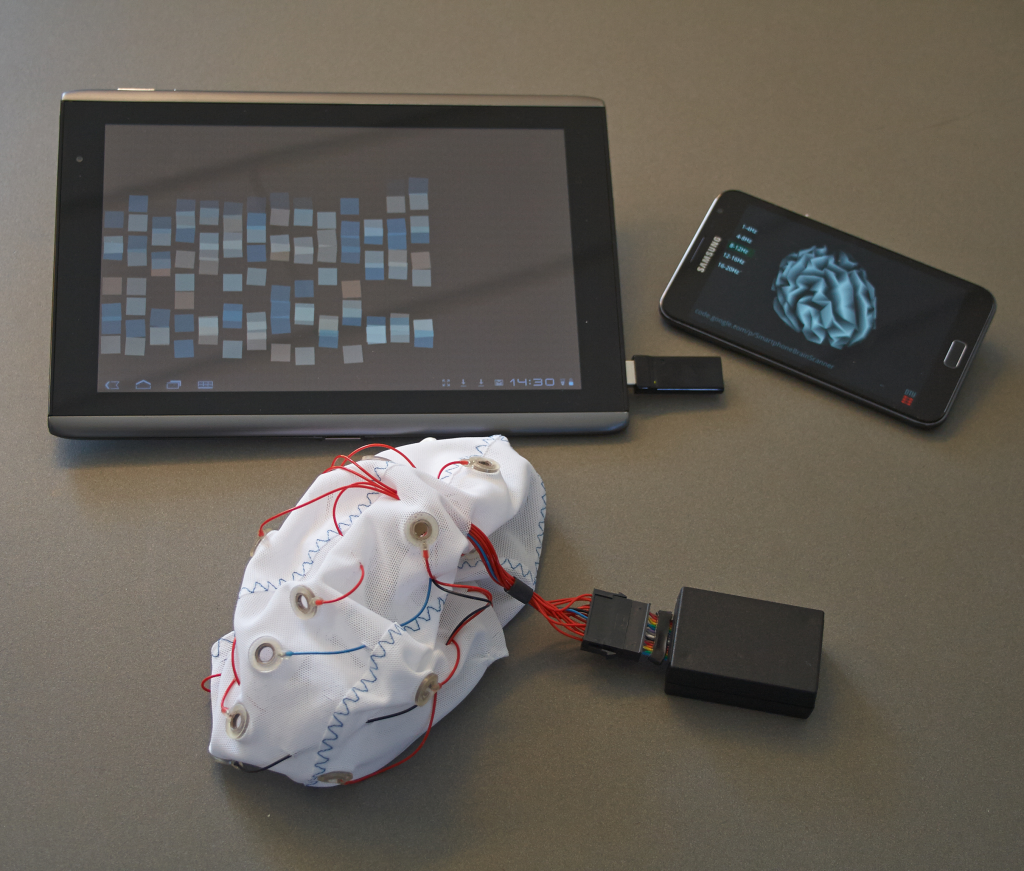Smartphone Brain Scanner applications running on Android devices.