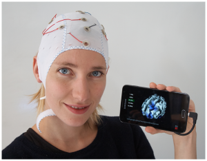 Snapshot of the SBS2 real time brain imaging system running on a Samsung Galaxy Note 2.